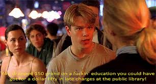 Good Will Hunting Libray Fee Quote